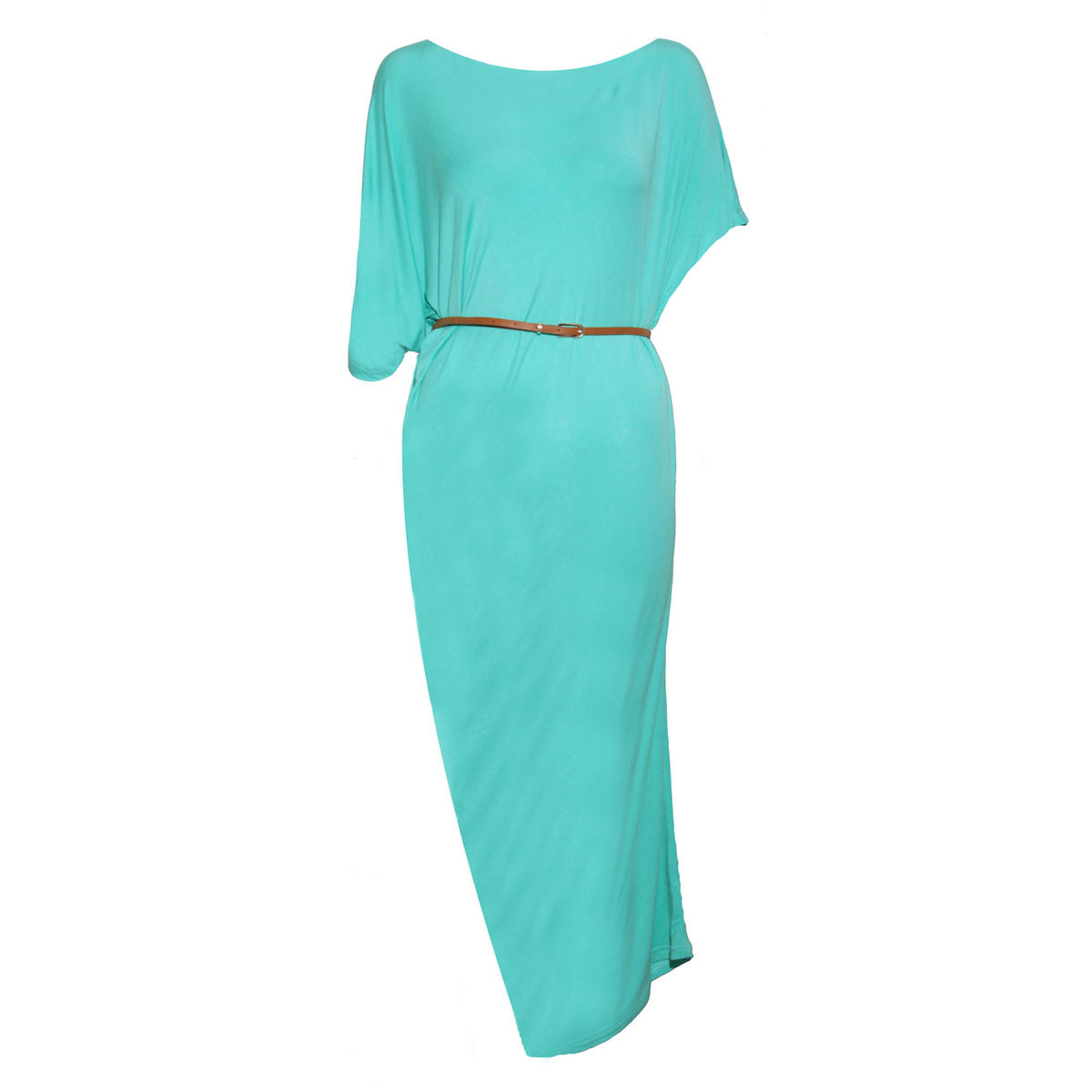 Turquoise Belted Maxi Dress Preview